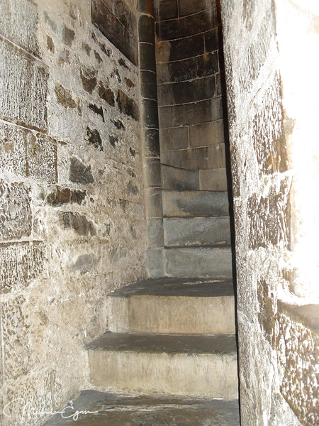 Climbing the steep stairs (417 steps...) of the cupola in Florence's Duomo