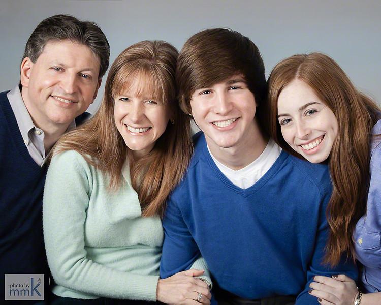 Family portrait in the studio