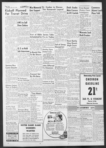 Daily Trojan, Vol. 42, No. 49, November 28, 1950