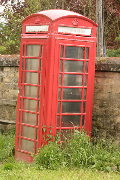 Old Red Telephone Booth