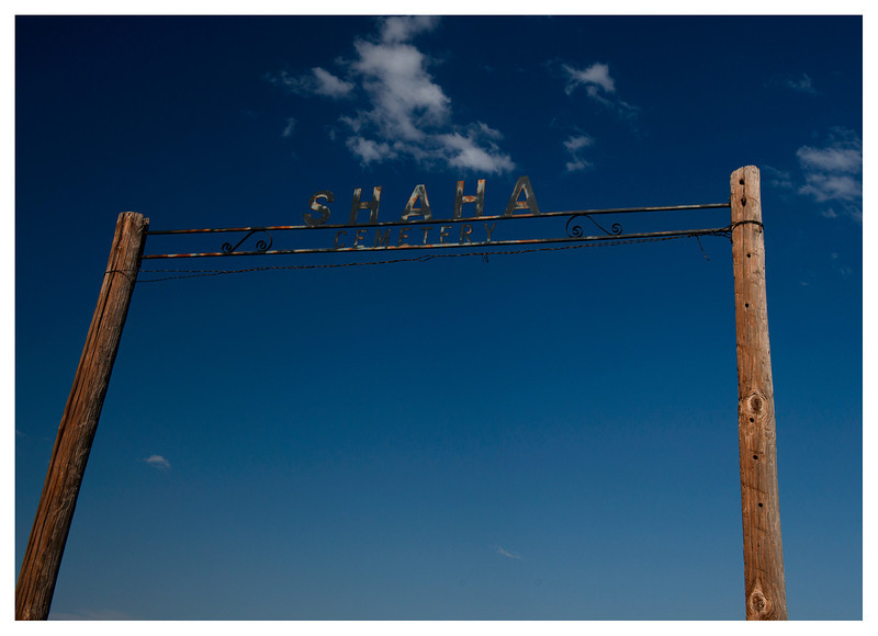 Shaha cemetery sign
