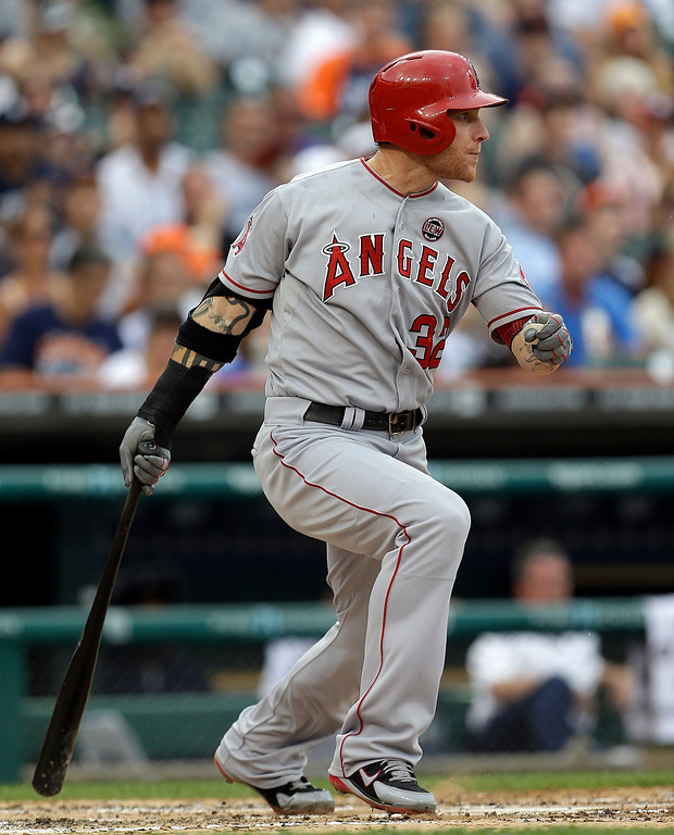 . JUNE 25: Making his first start in five days after dealing with a poor start and sore wrist, Hamilton went 3 for 5 with three runs scored as the Angels won 14-8 at Detroit to snap a three-game losing streak.June 25, 2013.  (AP Photo/Paul Sancya)