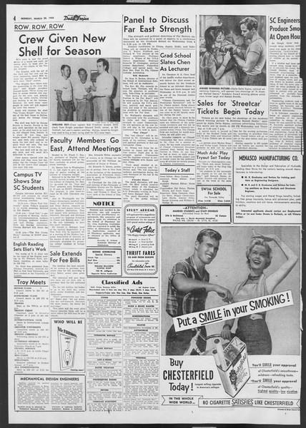 Daily Trojan, Vol. 46, No. 106, March 28, 1955
