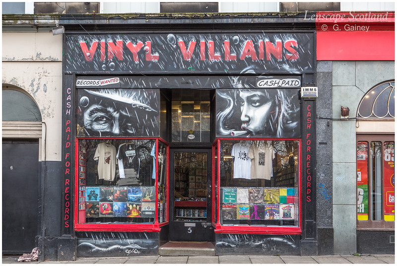 Vinyl Villains record shop, Elm Row