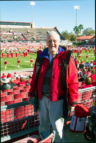 Longtime ticket-holder Lewis Wheeler at his last game here