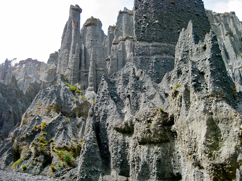 Putangirua Pinnacles in New Zealand
