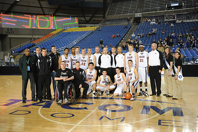 <center><br>2009 State Tournament <br>7th Place <br>Union - 60, Seattle Prep - 65</center>