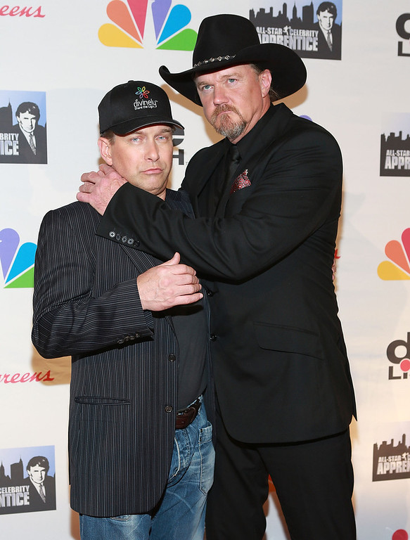 """. Stephen Baldwin (L) and Trace Adkins attend \""""All Star Celebrity Apprentice\"""" Finale at Cipriani 42nd Street on May 19, 2013 in New York City.  (Photo by Robin Marchant/Getty Images)"""