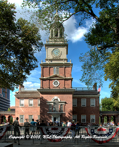 Independence Hall, Philadelphia, PA, photo by NSL Photography