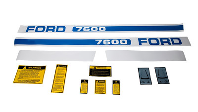FORD 7600 SERIES BONNET DECAL SAFETY & WARNING SET