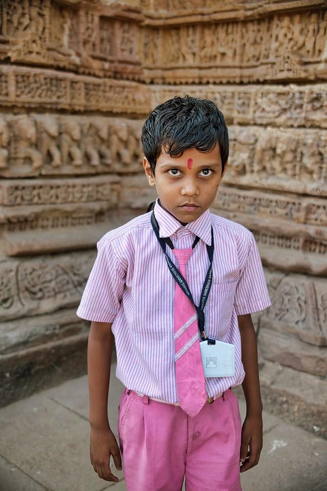 Ahmedabad India Sun Temple kid