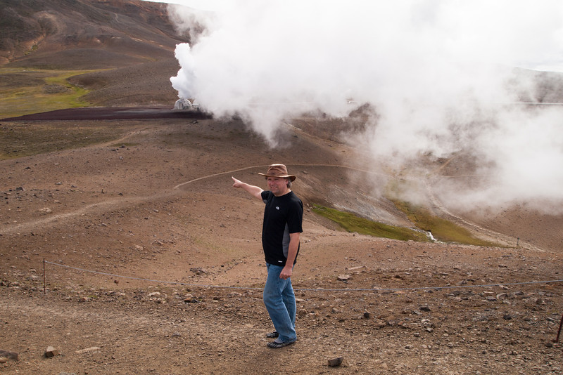 geothermal bore next to the crater
