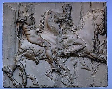 Elgin Marbles breaking off the backs