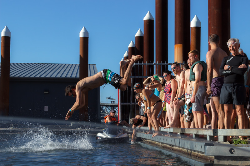 Human Access Project: First Mayoral Swim with Mayor Elect Ted Wheeler