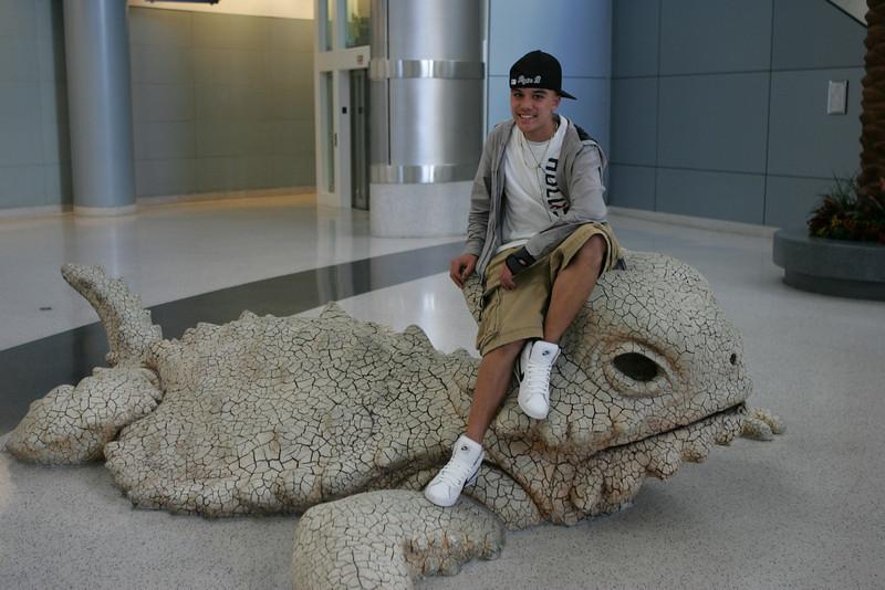 Payton and his friend at McCarran Airport...