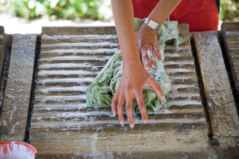 Hands of a young washerwoman, Chefchaouen, Morocco