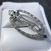 Art Deco Diamond and Onyx Brooch 7
