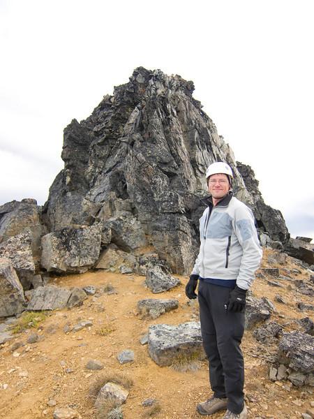 Ed just below the summit.