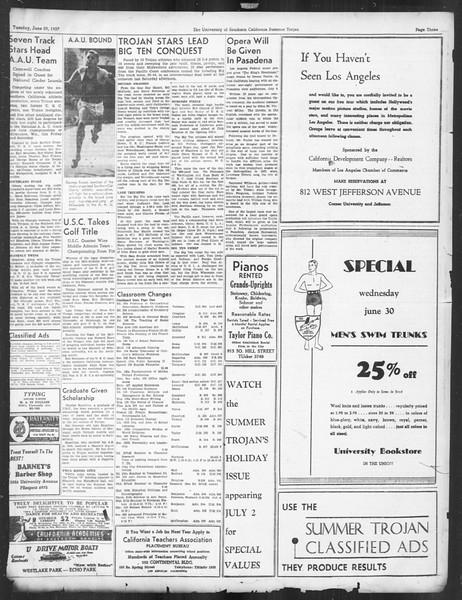 Summer Trojan, Vol. 16, No. 3, June 29, 1937