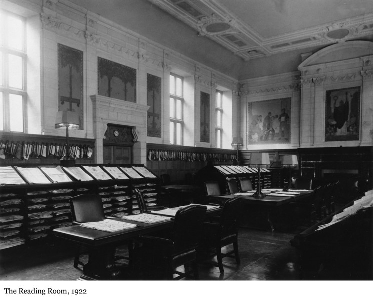 The Reading Room - La salle de lecture, 1922