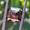 4.57ct Fancy Dark Greenish Yellow Brown Asscher Cut Diamond GIA 15