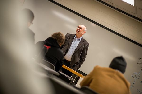 President Dan Bradley in Technology class