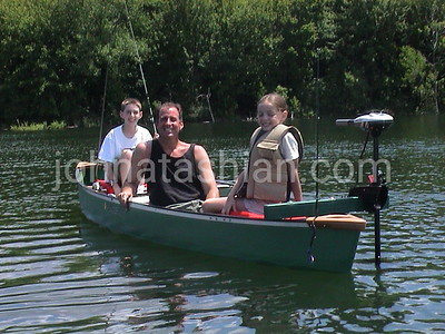 Boating at Crescent Lake - June 10, 2001