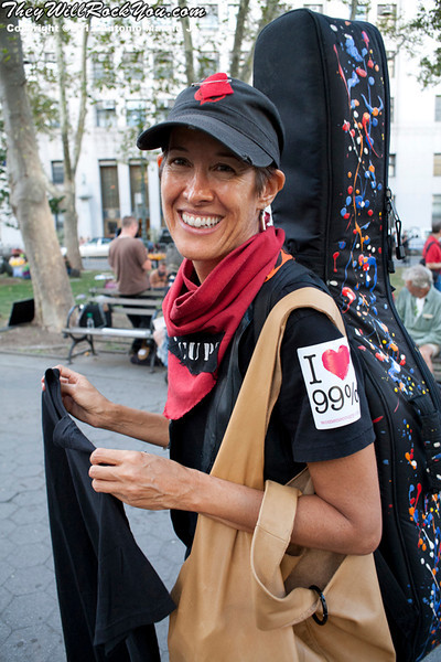 Michelle Shocked at the Occupy Wall Street Anniversary Concert - September 16, 2012