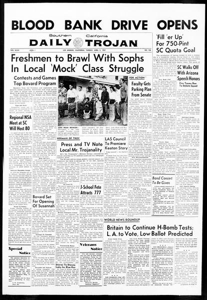 Daily Trojan, Vol. 48, No. 106, April 02, 1957