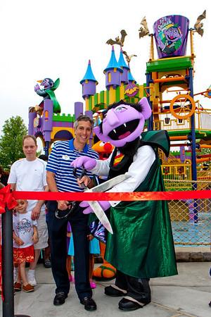 Sesame Place Splash Castle ribbon Cutting