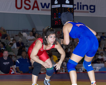 Women's Freestyle Championships 51 Kg: Jessica Medina (New York Athletic Cl) def Helen Maroulis (New York Athletic Cl) by Dec 3-0,3-0