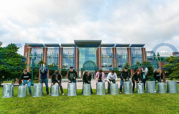 Geneseo Percussion Ensemble on Green (Photo by JB)