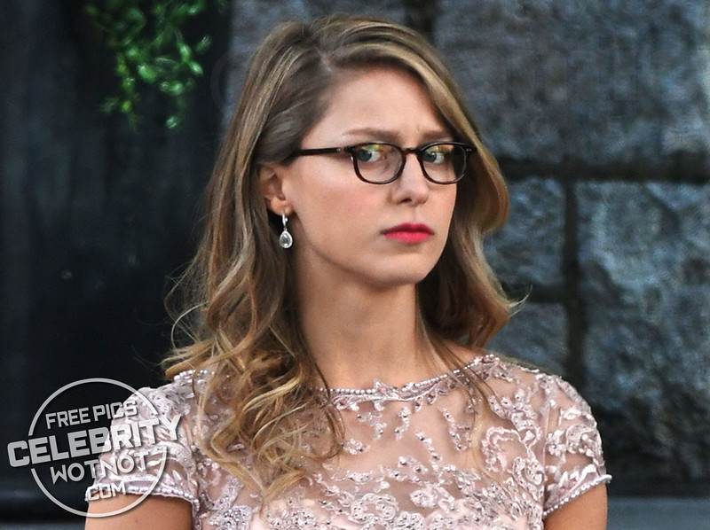 Melissa Benoist AKA Supergirl Attends 'The Flash's' Wedding To Iris West Filming in Vancouver, Canada