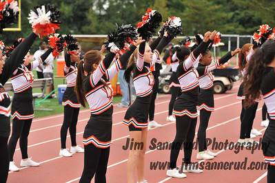 Cheerleaders at Football Game vs. John Jay