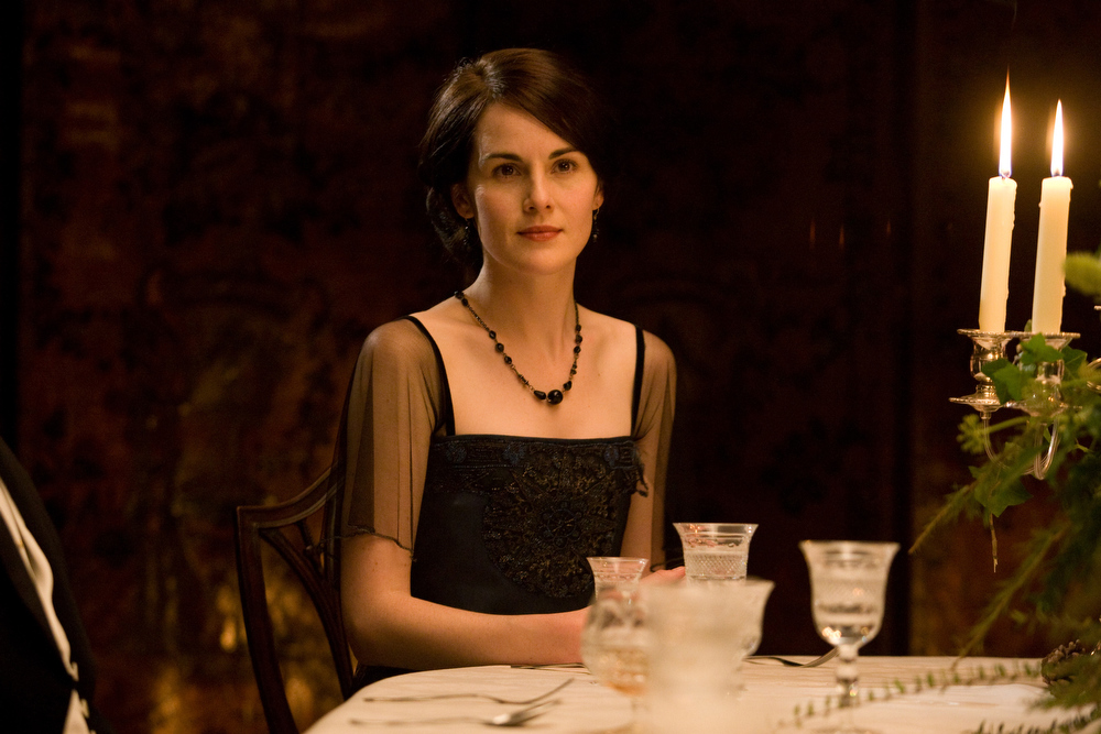 Description of . In this image released by PBS, Michelle Dockery portrays Lady Mary in a scene from the second season of
