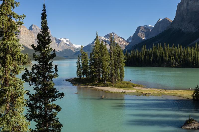 Spirit Island, Maligne Lake. Jasper National Park, Alberta, Canada.