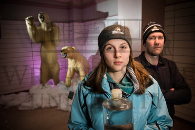 15274 Student Alison Agather and Proffessor Chad Hammerschmidt Arctic Expedition 2-18-15