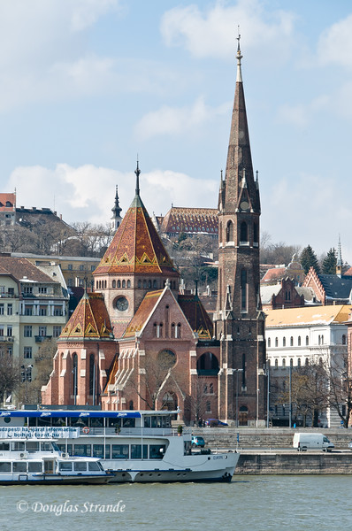 Calvinist Church on the waterfront in Budapest