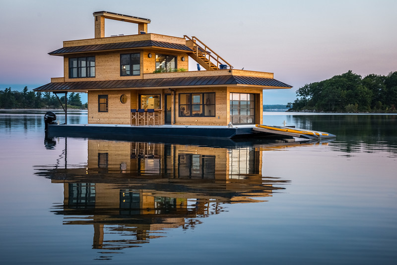 House Barge - 1000 Islands, NY.