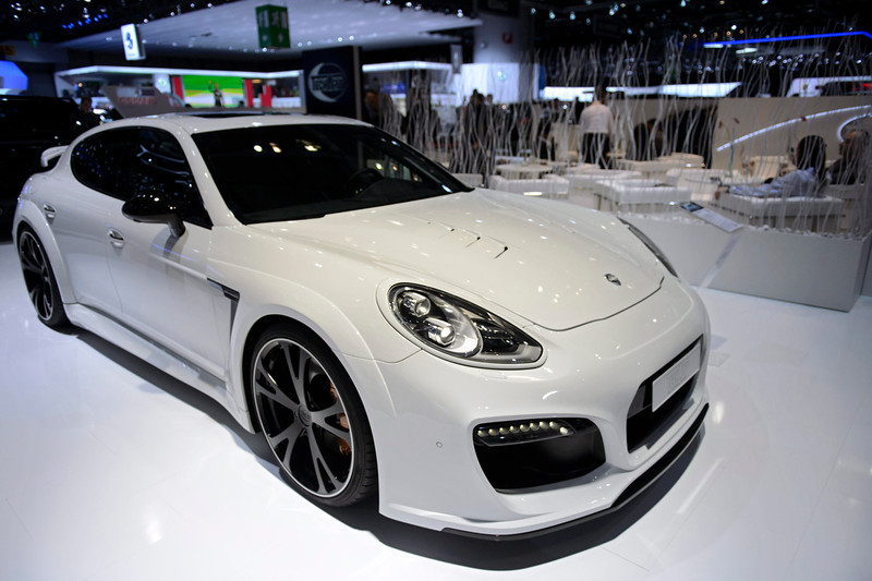 . The new Techart Grand GT based on Porsche Panamera Turbo Executive is shown during the press day at the 84th Geneva International Motor Show in Geneva, Switzerland, 04 March 2014. The Motor Show will open its gates to the public from 06 to 16 March presenting more than 250 exhibitors and more than 146 world and European premieres.  EPA/SANDRO CAMPARDO