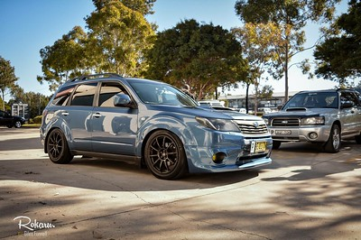 Bradden's 2010 Forester XT on 18x8.5 +44 Rota G-Force