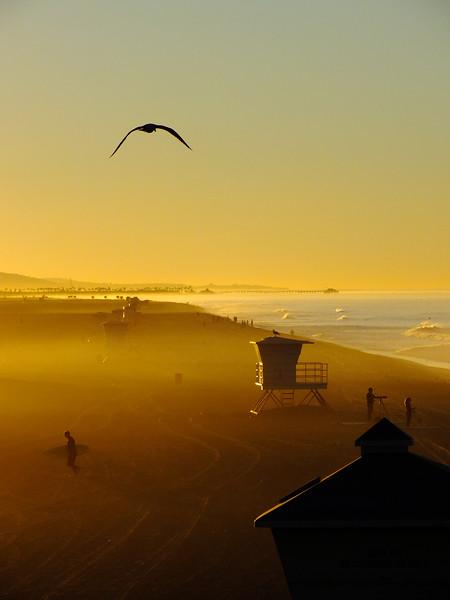 Hazy Beach Sunrise Huntington Beach, California.jpg