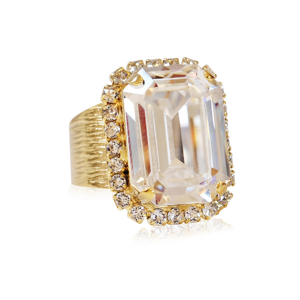 Lydia Cocktail Ring / Crystal Gold