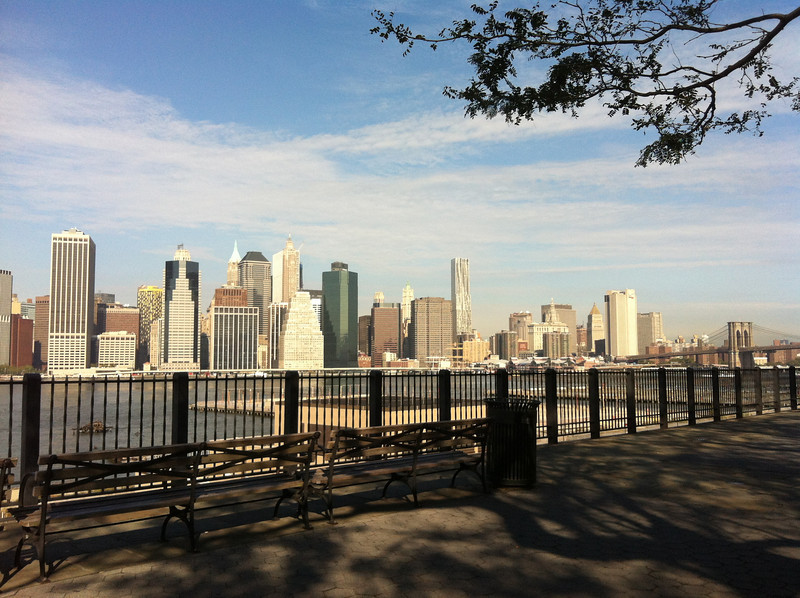The East River as seen from the Brooklyn Heights Promenade