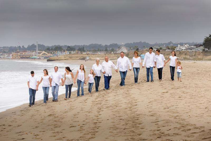 The Ayerza Family (Family Portrait Photography, Seabright Beach, Santa Cruz, California)