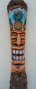 This wooden sculpture is found on Coconuts Bar & Grill on the beach.