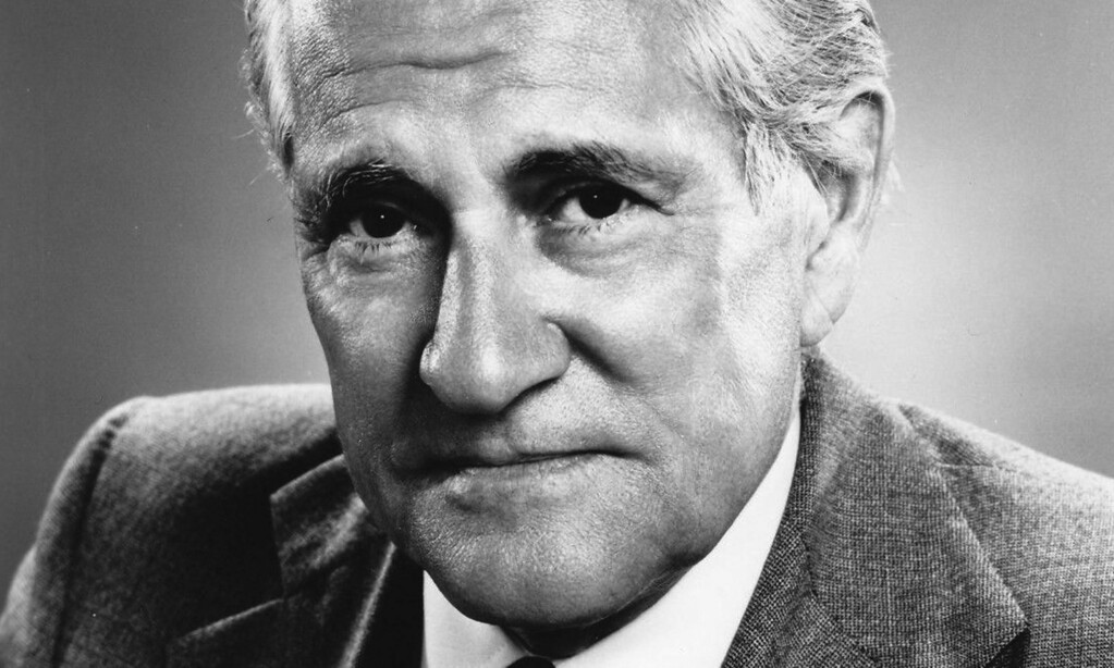 """. Newsman and University of Minnesota grad Eric Sevareid was born on this day in 1912. The North Dakota native\'s book \""""Canoeing with the Cree,\"""" about his trip from Minnesota to the Hudson Bay, is still in print. He was a war correspondent, a protege of Edward R. Murrow, and spent his entire career with CBS News. He died in 1992. He\'s shown in a 1955 photo. (Courtesy of ebay.com)"""