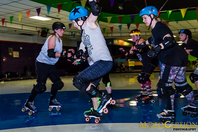 Roller Derby practice - February 2016