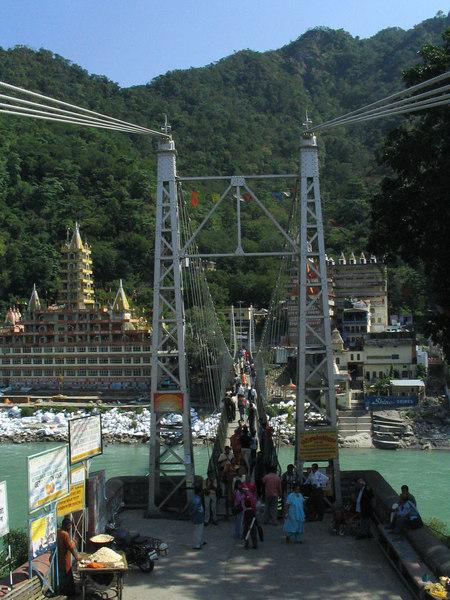 Lahksman Jhula Bridge.