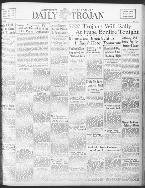 Daily Trojan, Vol. 25, No. 35, November 10, 1933